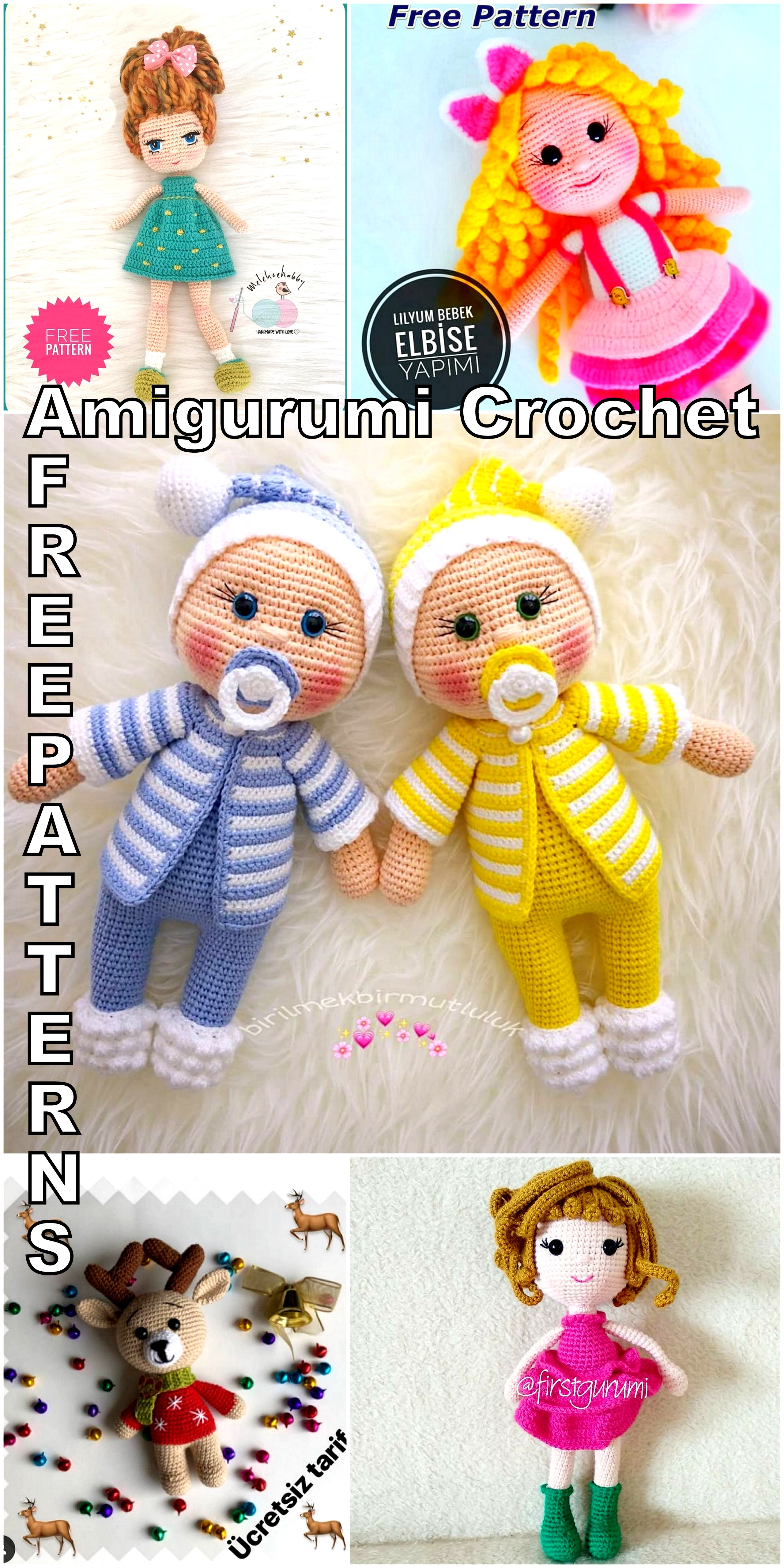 Best Amigurumi Doll And Animal Crochet Free Patterns