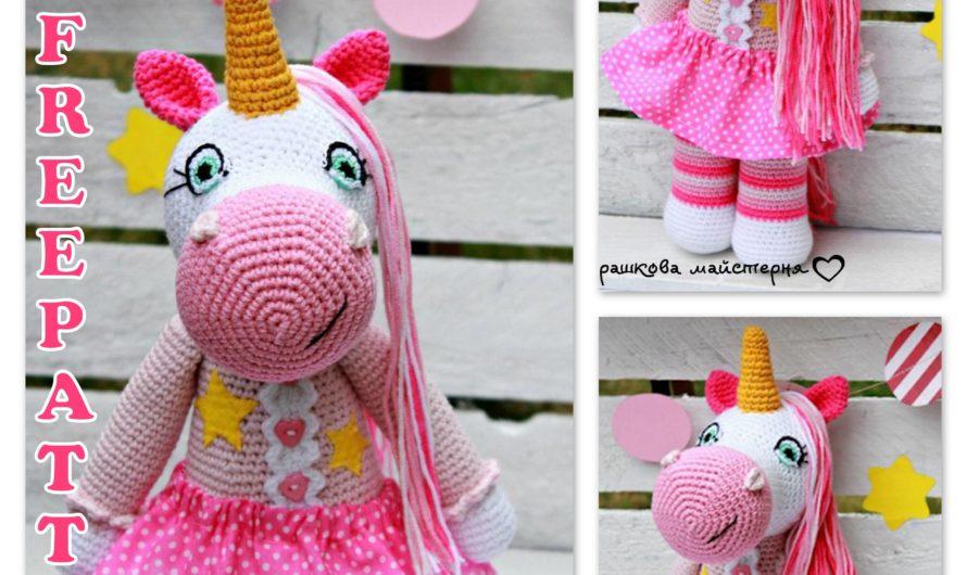 Amigurumi Female Unicorn Free Crochet Pattern