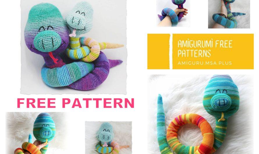 Amigurumi Cute Snake Free Crochet Pattern