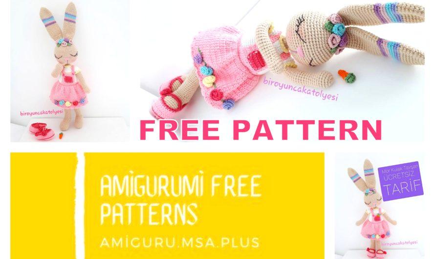 Purple Ear Bunny Amigurumi Free Crochet Pattern
