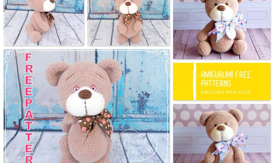 Amigurumi Brown Teddy Bear Free Crochet Pattern